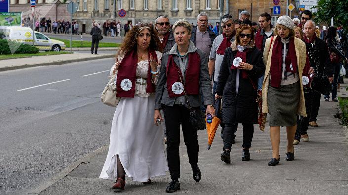 Марш живых прошёл по улицам, где в годы войны было гетто