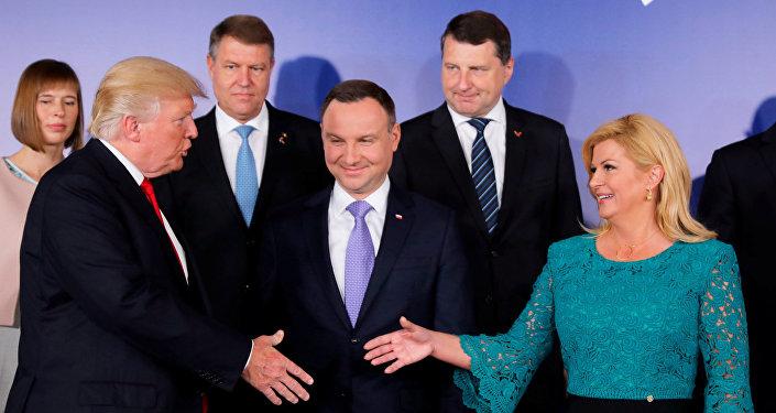 На саммите Инициатива трех морей в Варшаве, 6 июля 2017