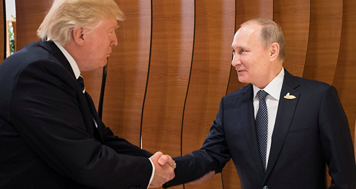 Krievijas prezidents Vladimirs Putins un ASV prezidents Donalds Tramps