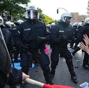 Protesta akcijas Hamburgā