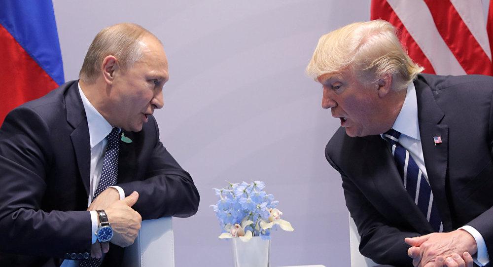 KF prezidents Vladimirs Putins un ASV prezidents Donalds Tramps
