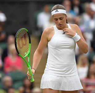 Елена Остапенко в четвертьфинале против Винус Уильямс из США, Уимблдон