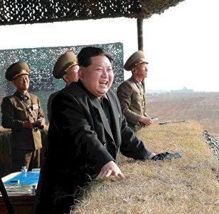 Korejas Tautas Demokrātiskās Republikas vadītājs Kims Čenuns