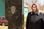Мама погибшего Дмитрия Ганина Вера Яковлевна у памятника на могиле сына