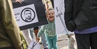 Акция протеста у главного здания Генеральной прокуратуры Латвии