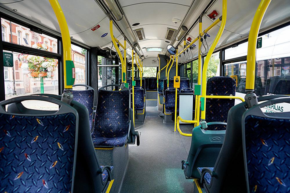 Интерьер лиепайского автобуса