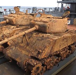 Barenca jūrā atrasti Otrā pasaules kara laiku ASV tanki