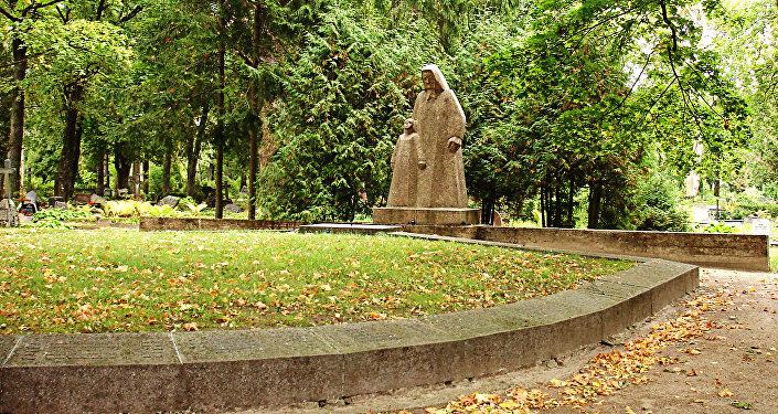 Советский воинский мемориал в городе Кулдига