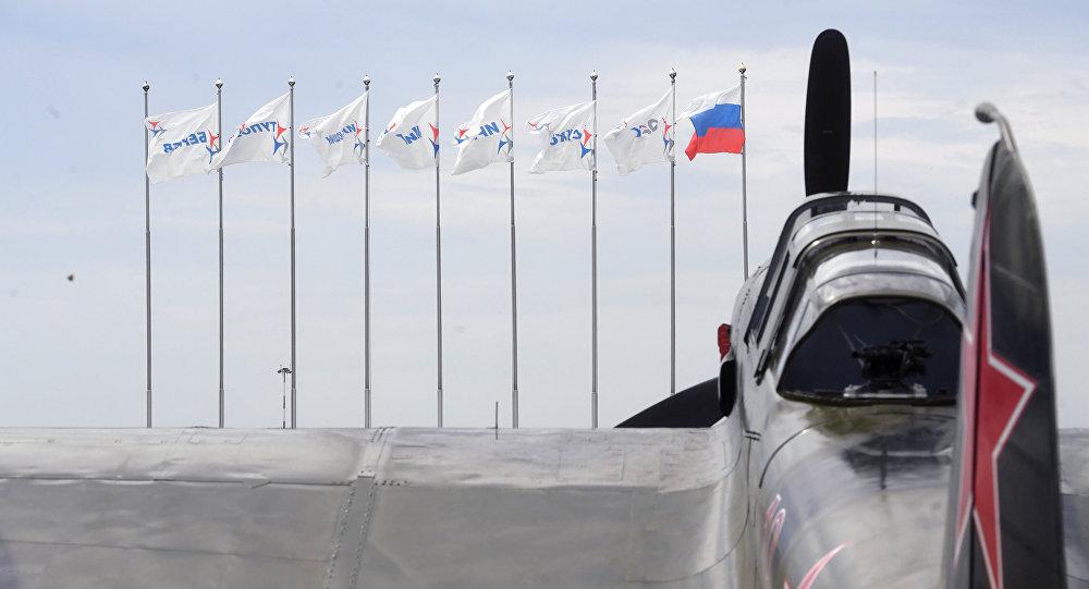 Самолет ИЛ-2 (1942 г.) на полигоне во время подготовки к открытию Международного авиационно-космического салона МАКС-2017 в Жуковском.