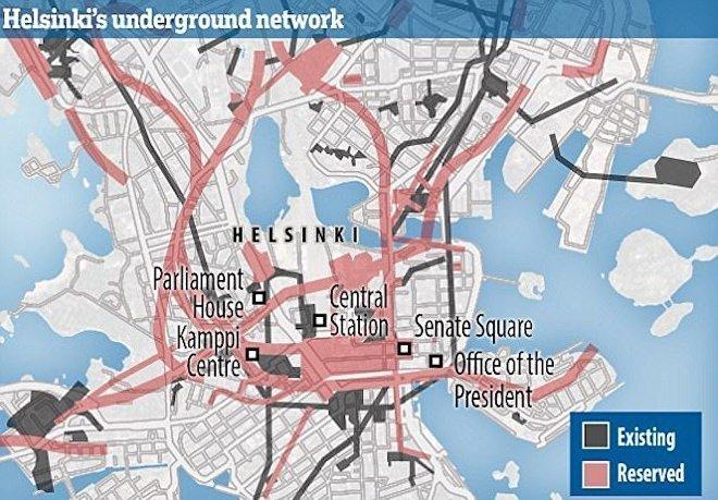 Схема подземелий Хельсинки