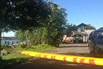 Пожар на катамаране в Болдерае