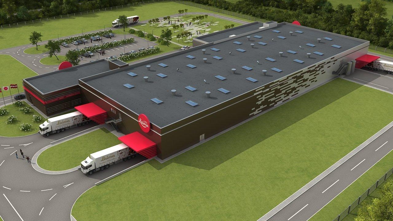 Проект новой фабрики Laima в Адажи