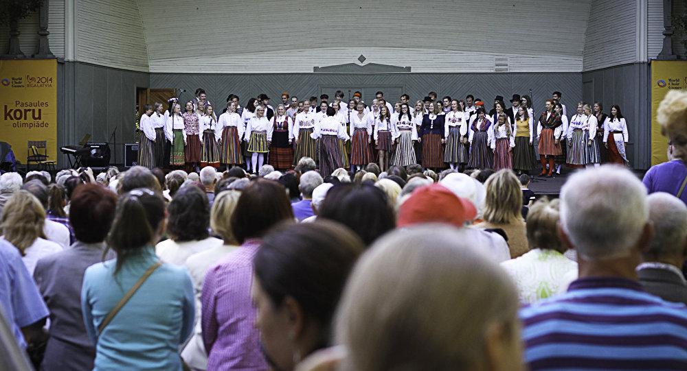 Выступление участников 3-й Европейской олимпиады хоров