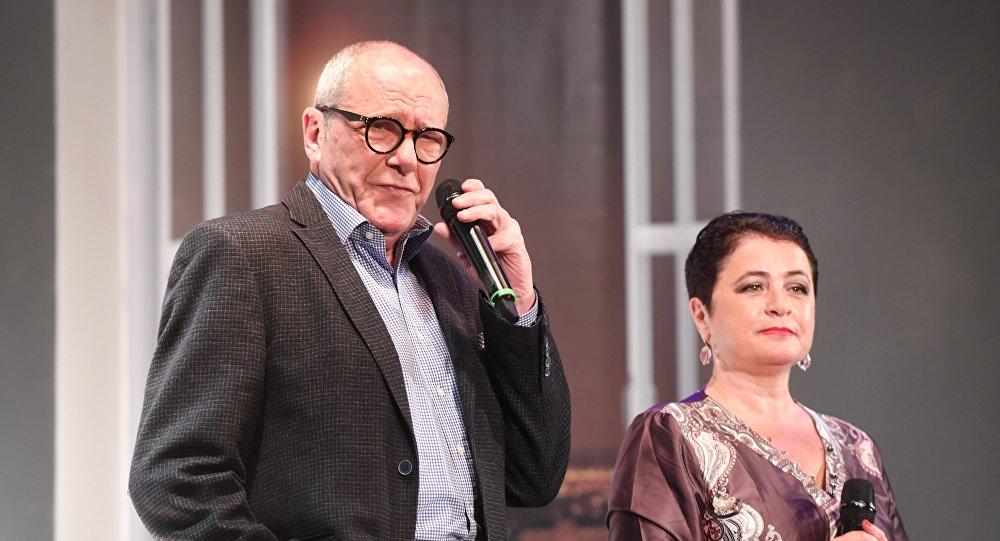 Народный артист России Эммануил Виторган с супругой Ириной