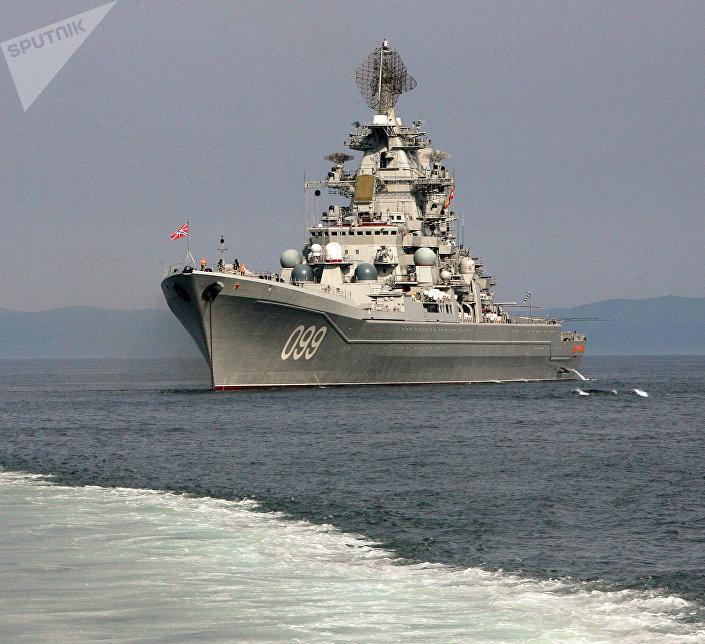 Тяжелый атомный ракетный крейсер Северного флота Петр Великий