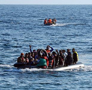 Мигранты в лодке