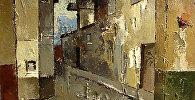 Фрагмент картины Валдиса Калнрозе Старая Рига
