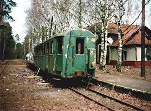 Остатки подвижного состава на станции Яуниешу (Комъяуниешу)