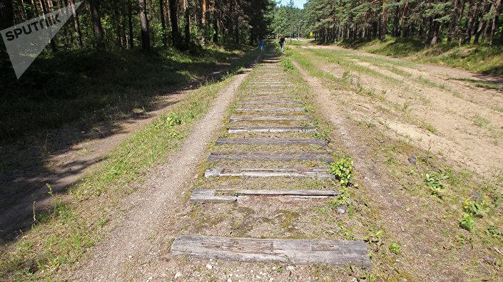 И я по шпалам, опять по шпалам... по насыпи Рижской детской железной дороги можно попытаться уйти в детство