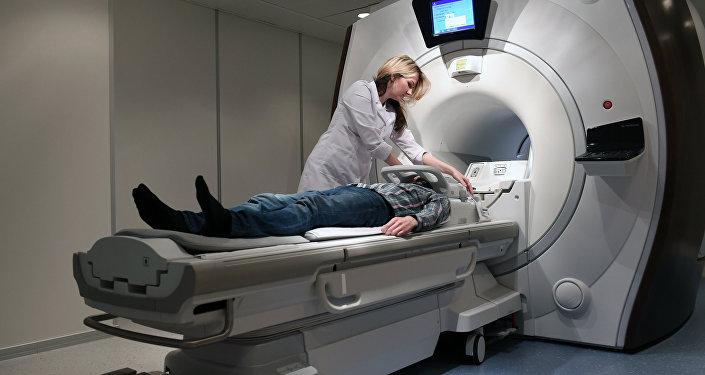 Pacients MRT procedūras laikā