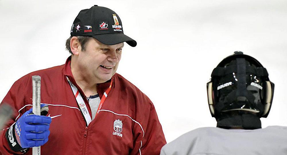 Latvijas hokeja izlases treneris Leonīds Beresņevs. Foto no arhīva