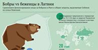 Бобры vs беженцы в Латвии