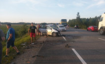 Авария с участием автобуса Таллин - Рига
