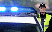 Ukrainas policijas darbinieks. Foto no arhīva