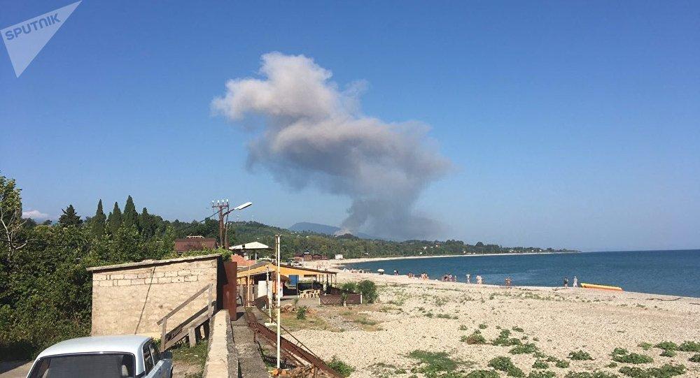 Взрыв на складе боеприпасов в Приморском районе