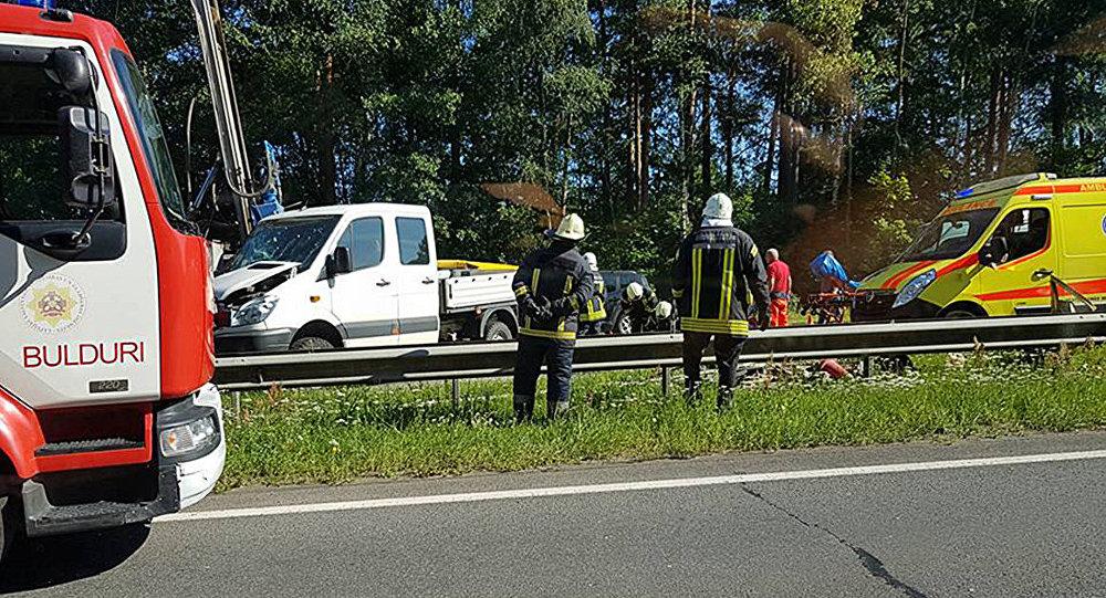 Авария на Юрмальской трассе