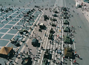 Военная техника времен Великой Отечественной на выставке в Петербурге