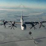 Нанесение авиаудара крылатыми ракетами по объектам террористов в САР самолетами Ту-95МС ВКС России