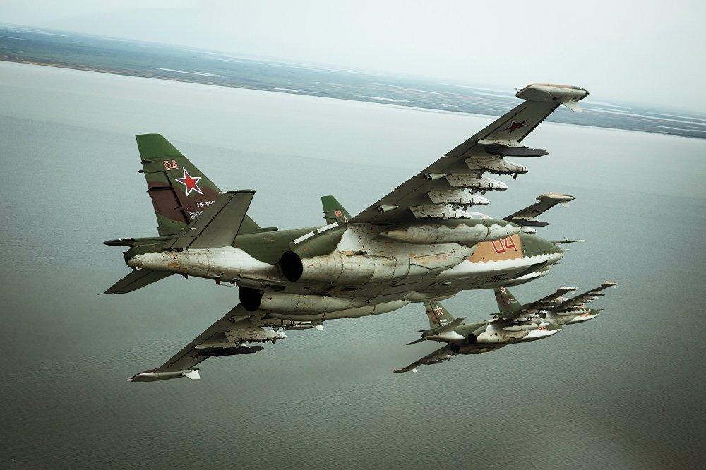 Летно-специальная подготовка экипажей штурмовиков Су-25СМ3 в Приморско-Ахтарске
