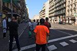 Barselona, vieta, kur cilvēku pūlī ietriecās furgons