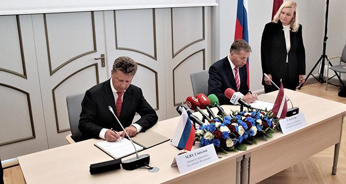 Krievijas transporta un Latvijas satiksmes ministru tikšanās