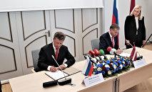 Встреча министров транспорта России и Латвии