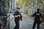 Усиленные патрули на улицах Лас-Рамблас после теракта, Барселона
