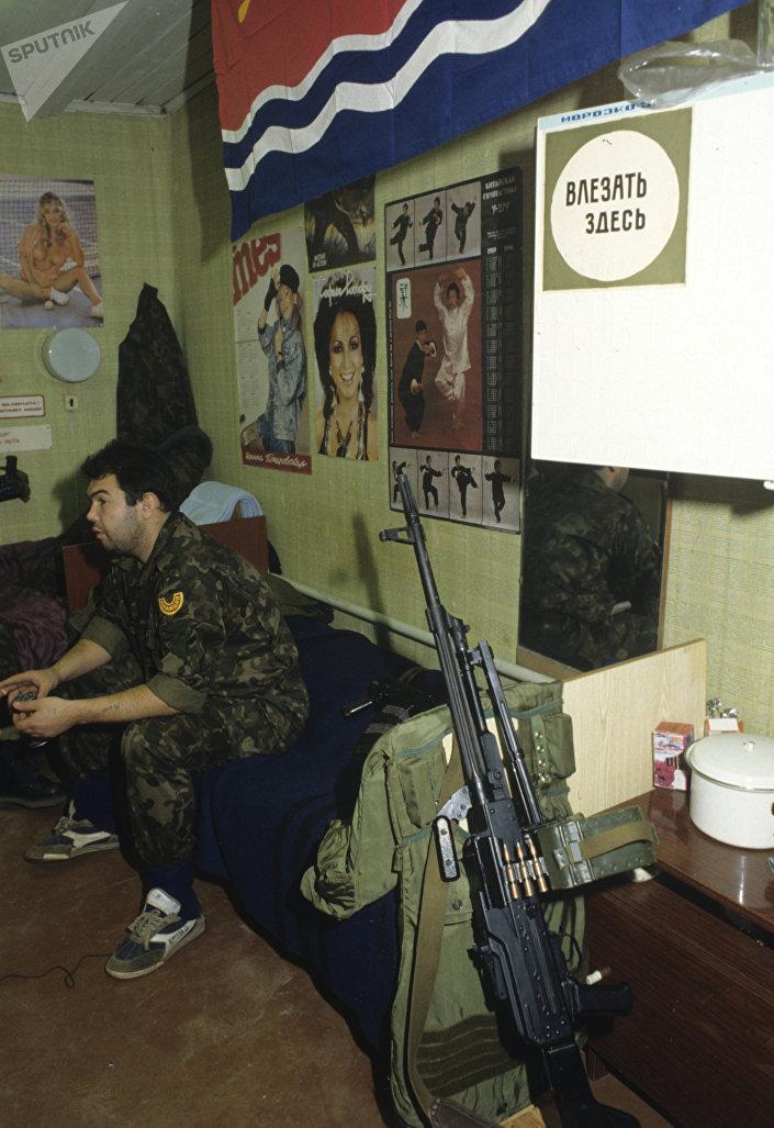На базе рижского ОМОНа, 1991 год
