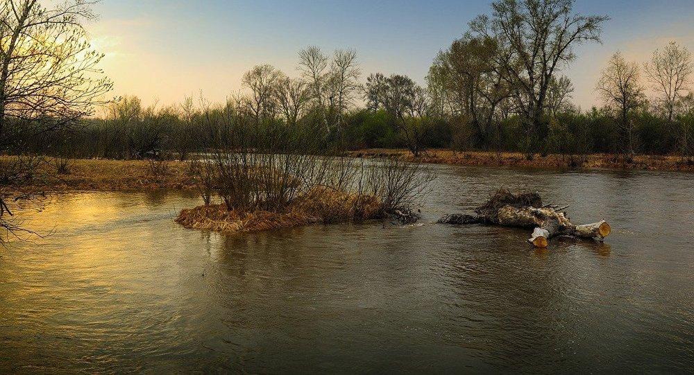 Разлившаяся река