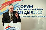 Президент Союза журналистов Латвии Юрис Пайдерс