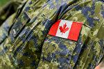 Эмблема канадского военного контингента в Латвии