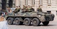Rīgas OMON karavīri Doma laukumā 1991. gada augustā