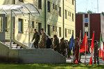 Новые казармы в Адажи для контингента НАТО, архивное фото