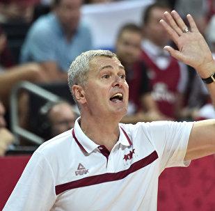 Тренер латвийской сборной по баскетболу Айнарс Багатскис