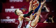 Сборная Латвии обыграла команду России в групповом этапе чемпионата Европы по баскетболу