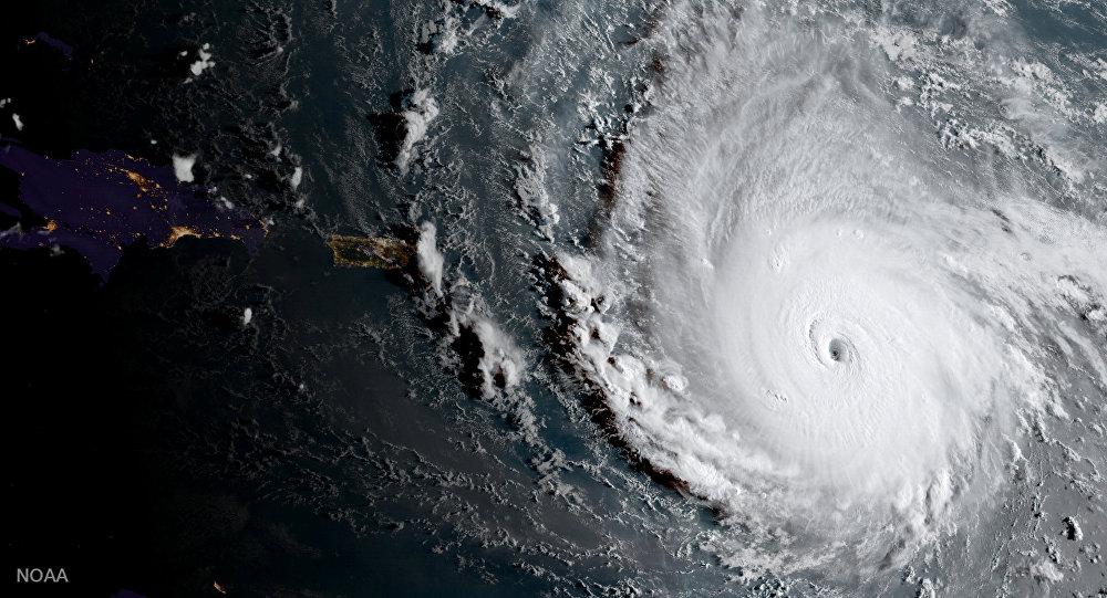 Viesuļvētras Irma uzņēmums no kosmosa