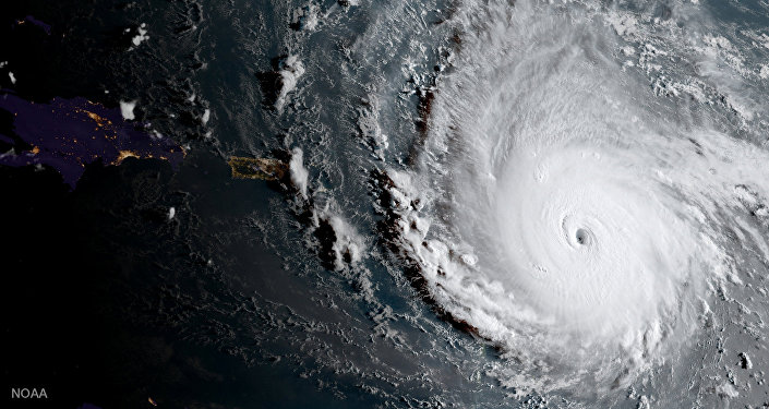 Viesuļvētras Irma fotouzņēmums no kosmosa