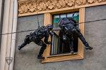 Полиция провела учения по освобождению заложников в центре Риги