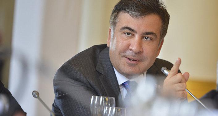 Bijušais Gruzijas prezidents un bijušais Odesas apgabala gubernators Mihails Saakašvili