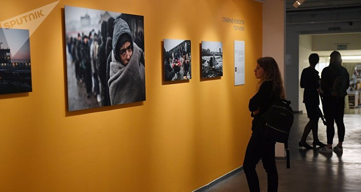 Andreja Steņina Starptautiskā fotožurnālistikas konkursa finālistu darbu izstādē